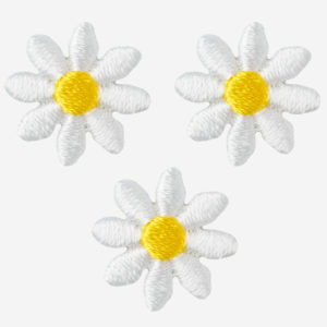 Daisy iron on patches