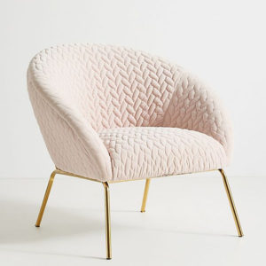 Quilted Hillside Accent Chair Anthropology