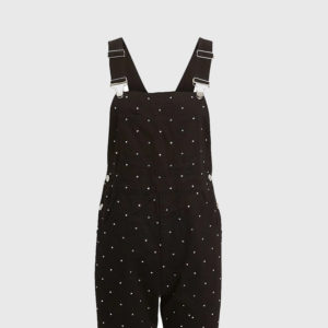 Basic Crystal-Embellished Overalls