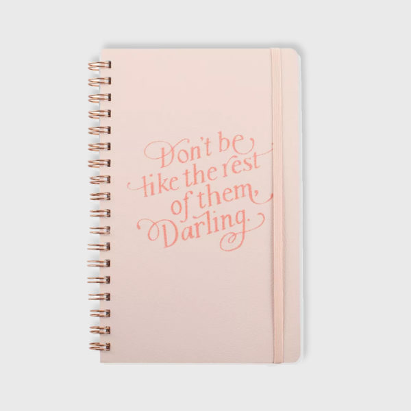 Inspirational Lined Journal with Elastic Closure Blush Pink n
