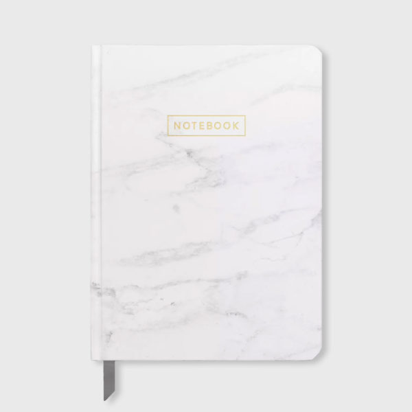 "Lined Journal 5""x 7.25"" Marble with Gold Foil"