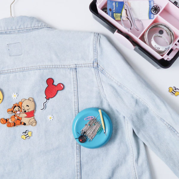How To Make a Winnie The Pooh Patch Denim Jacket